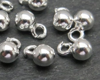 Sterling Silver Ball Charm 4mm