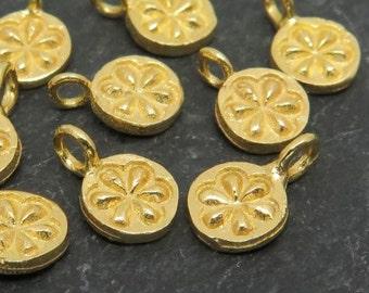 Gold Vermeil Daisy Charm 7mm