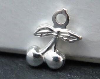 Sterling Silver Cherry Charm 10.5mm