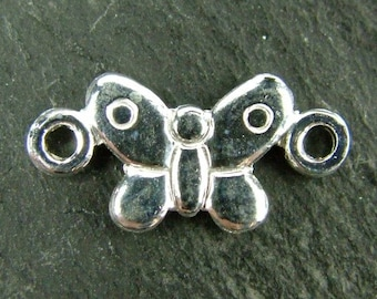 Sterling Silver Butterfly Connector 13.5mm