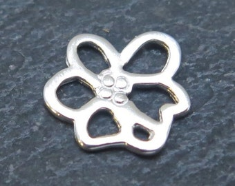 Sterling Silver Cherry Blossom Connector 9mm