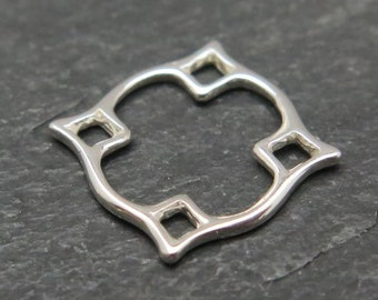 Sterling Silver Diamond Connector 13mm