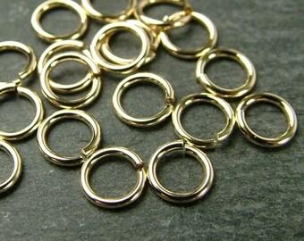 10pcs 5mm Gold Filled Open Jump Ring - 20 gauge