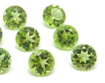 Peridot Brilliant Faceted Round ~ Various Sizes