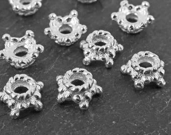 Sterling Silver Star Bead Cap 5.7mm