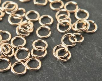 10pcs Gold Filled Open Jump Ring 3mm ~ 24ga