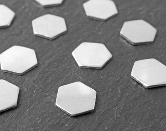 Sterling Silver Hexagon Solderable Accent 6mm