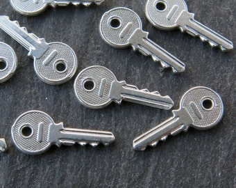 Sterling Silver Sterling Silver Key Charm 14mm