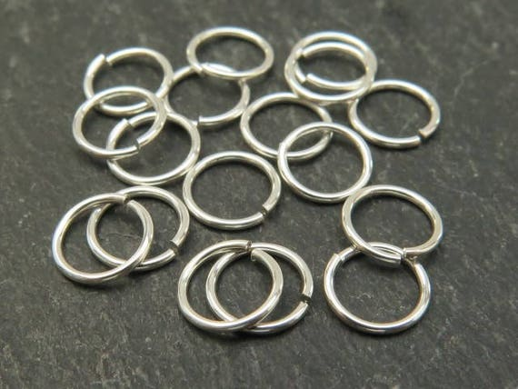 - 10pcs 6mm Open Jump Rings 925 Sterling Silver 1mm Dia