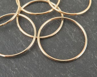 Gold Filled Stacking Ring 21mm ~ Size R/9/59