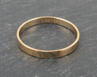 Gold Filled Flat Ring ~ Size L