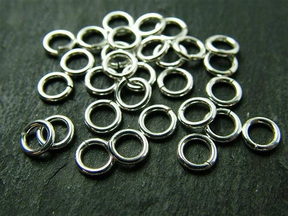 100pcs 3.5mm 925 sterling silver Round O open jump ring charm connector R13s