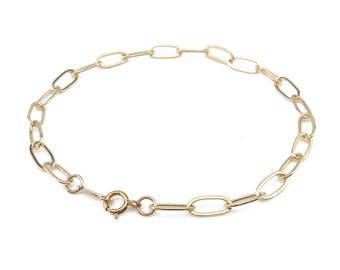 """Gold Filled Drawn Cable Chain Bracelet ~ 7.25"""""""