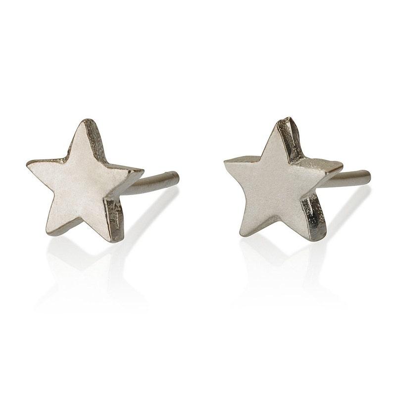 ae81f5e15 Silver Star Earrings Star Stud Earrings Cute Earrings | Etsy