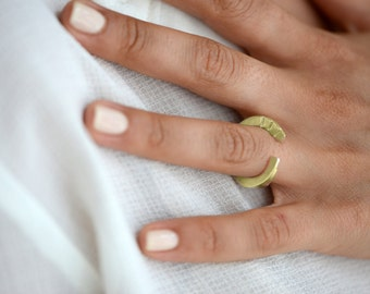 14K Gold Open Ring , Architectural Ring , Geometric Gold Ring , Unique Ring , Gold Statment Ring