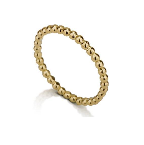 Gold Perlen Hochzeit Ring 14 K Gold Kugeln Ringe Ball Etsy