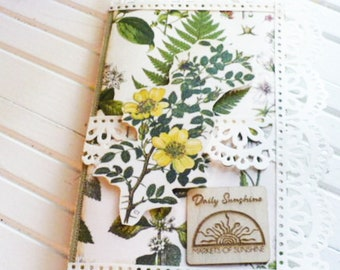 Yellow Rose Journal of Pockets and Tags for Junk Journals, Scrapbooking, Art Journal, Gratitude Journal, Daily Sunshine Gift For Friend.