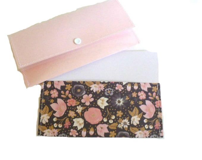 Pink Womens Wallet, Cash Envelope System, Bridal Shower Party Favors, Wedding Gift for Bride, Money Holder, Coin Purse, Emergency Savings