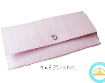 Large Pink Wallet for Women use as a Travel Wallet or Cash Envelope System of Budgeting Gift For Her