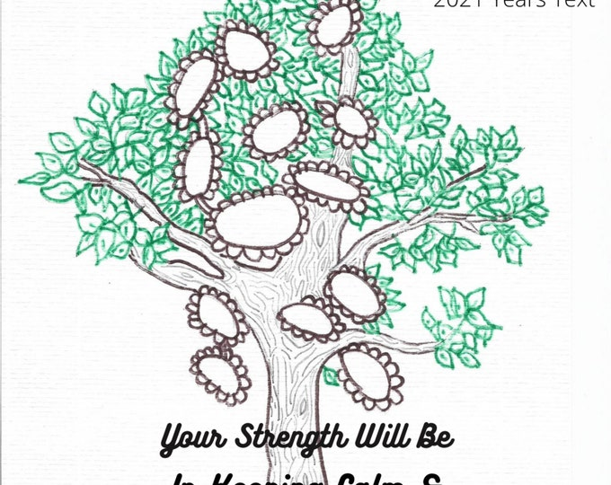 Your Strength Will Be In Keeping Calm and Showing Trust, 2021 Years Text, Digital Download, Printable Bible Quote