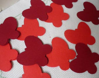 Red Confetti Table Decor, Red Butterfly Table Scatter, Party Decor, MarketsofSunshine