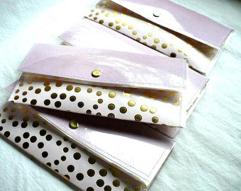 Minimalist Wallet For Women, Slim Clutch, Tea Bag Holder, Gift For Daughter