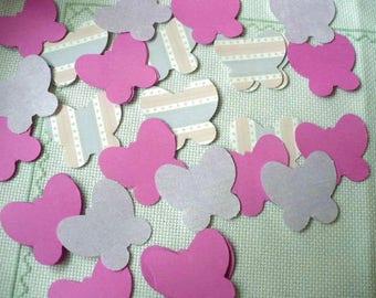 Pink and Purple Table Confetti Party Decor, Butterfly Confetti Assortment, MarketsofSunshine