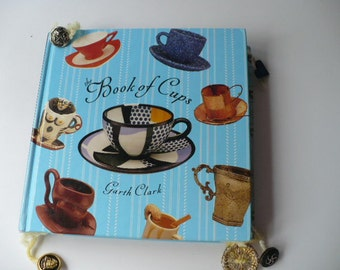 Tea Cup Altered Book Keepsake Album, Personalized Monogram Gift, Something Blue, Bridesmaid Gift, Tea Party Wedding Favor