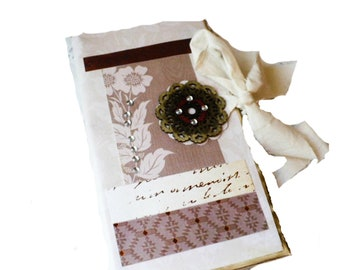 Travelers Notebook Insert, Junk Journal Handmade, Folder With Pockets, Ephemera Storage, Gift for Writer