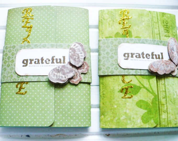 Mini Notepad Grateful Writing Journal Gift for Sister. Small Notebook Pocket Size Rejoice Baptism or Graduation Gift for Friend.