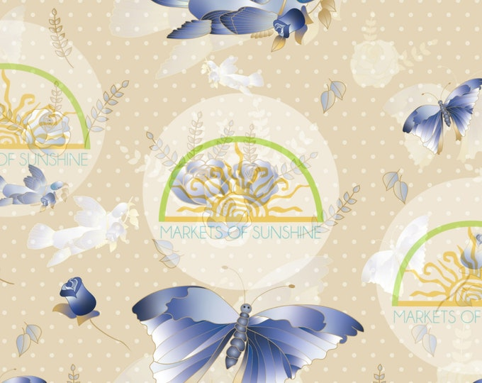 Butterfly Scrapbook Paper for Collage and Junk Journal Pages.  Digital Bird  Artwork Sheet for Card Making or Gift Tags.
