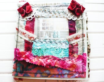 Bohemian Journal For Writing Daily Gratitude Gift for Women. Boho Junk Journal with Pockets and Tags for Travel Gift for Friend.