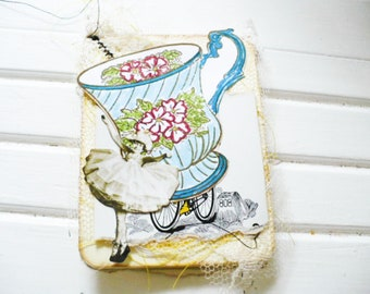 Tea Cup Bookmark Journal Card for Daily Sunshine Challenge Gift for Friend or Sister.