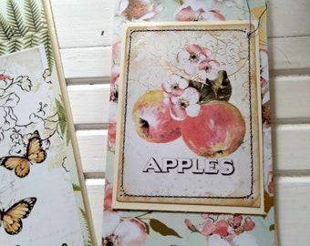 Mini Blank Journal Handmade For Field Notes Or Art Journal Sketchbook Gift For Women.