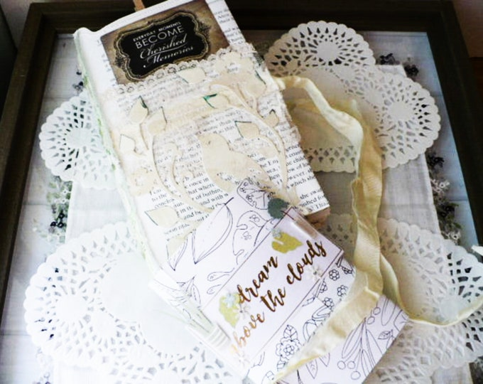 Junk Journal Handmade, Gratitude Journal, Alice In Wonderland, Story Book Diary, Mad Hatter Tea Party, Scrapbook Album, Gift for Daughter