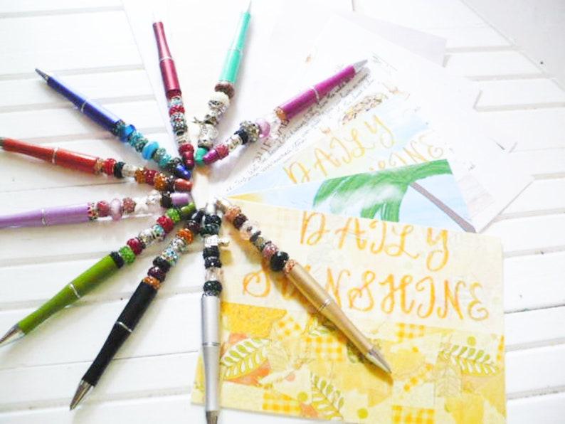 September Embellishments Kit Club Postcard Set and Beaded image 0