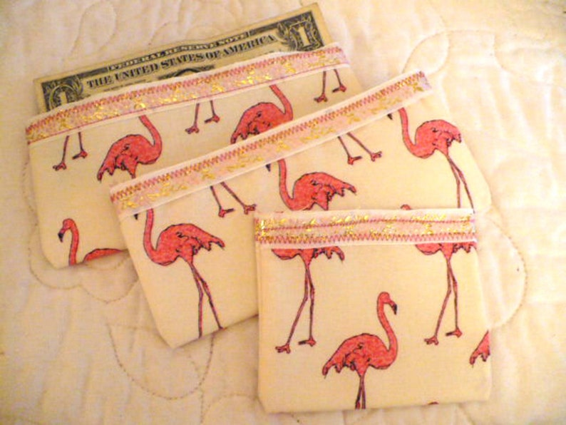 Flamingo Wallet Flamingo Coin Purse Money Holder Cash image 0