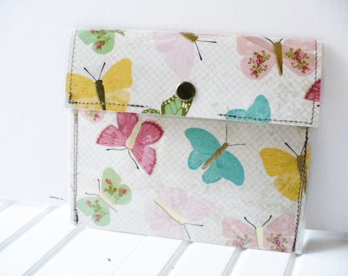 Credit Card Holder Women Mini Wallet Metallic Butterfly Coin Purse