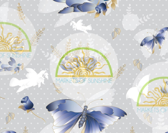 Butterfly Scrapbook Paper for Collage and Junk Journal Pages.  Digital Artwork Sheet for Card Making or Gift Tags.