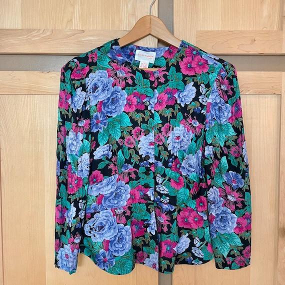 Cottagecore Vintage Floral Jacket Fairycore Cloth… - image 3