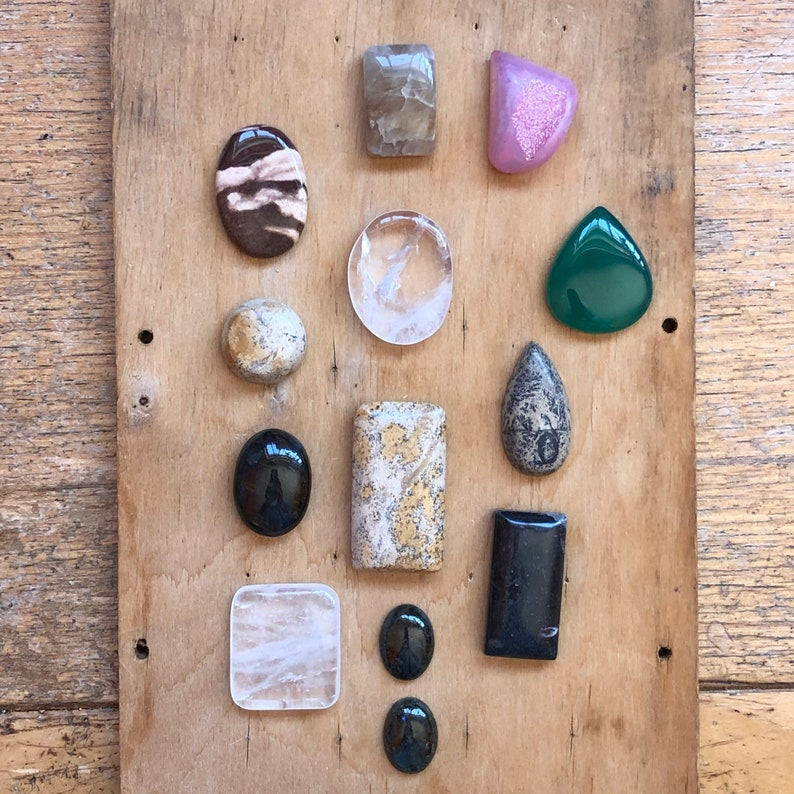 Stones for Wire Wrapping Cabochon Lot Jewelry Making image 0