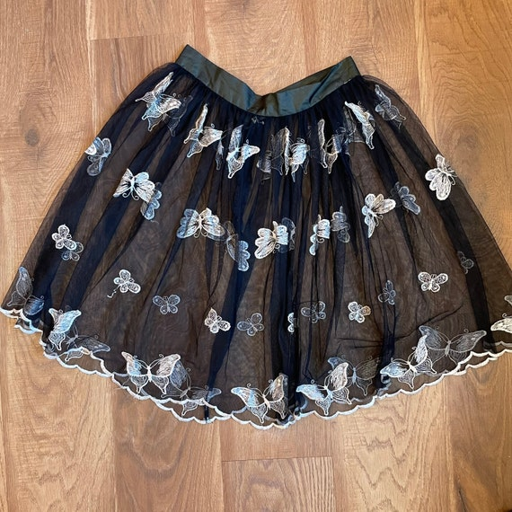 Y2K Sheer Butterfly Floaty Mini Skirt Fairycore C… - image 4