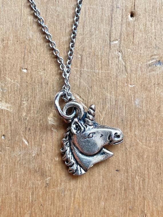 Small Unicorn Necklace Fairycore Jewelry Whimsica… - image 1