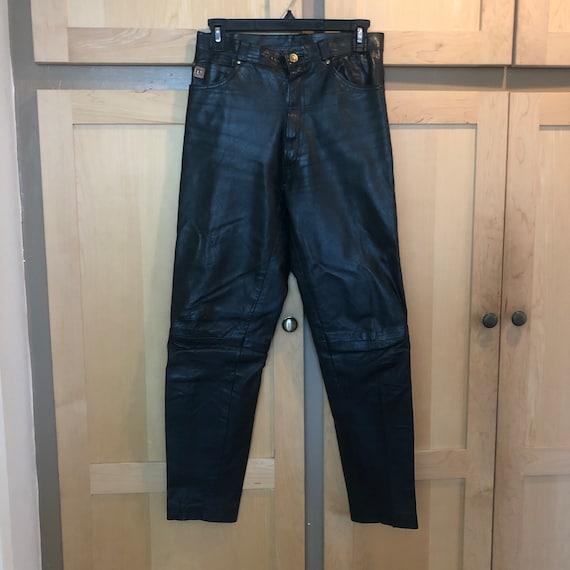 Paco Rabanne Leather Pants Vintage Designer Clothi