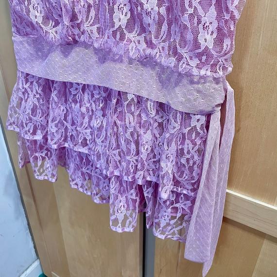 Vintage Pink Lace Dress Fairycore Clothing 1980s … - image 6