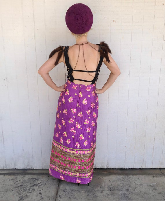 Vintage High Waist Quilted Skirt Fairycore Clothi… - image 2