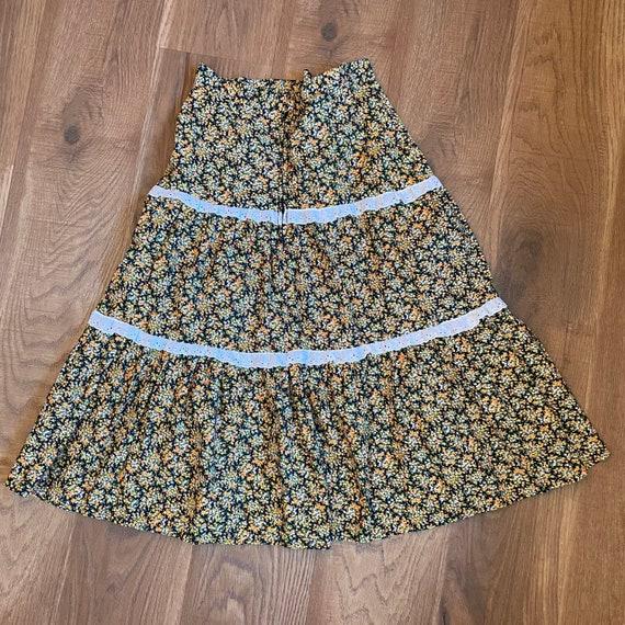 Vintage Prairie Skirt Cottagecore Clothing 70s Hi… - image 5