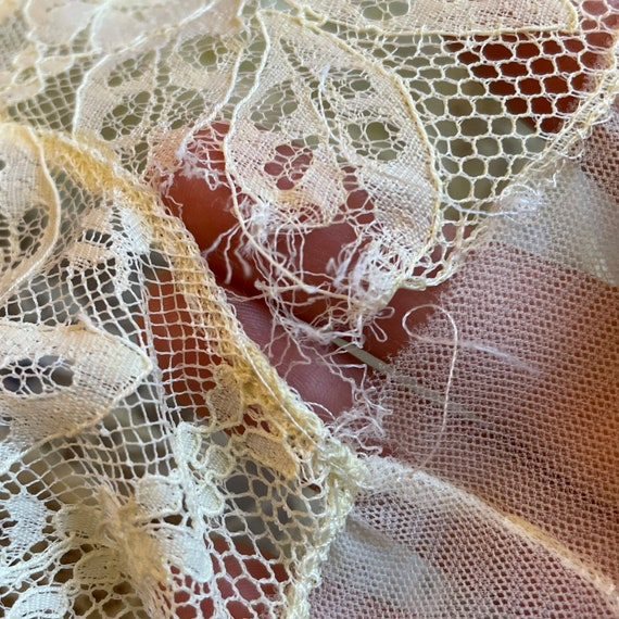 Vintage Pale Yellow Lace Slip Dress Whimsical Fai… - image 9