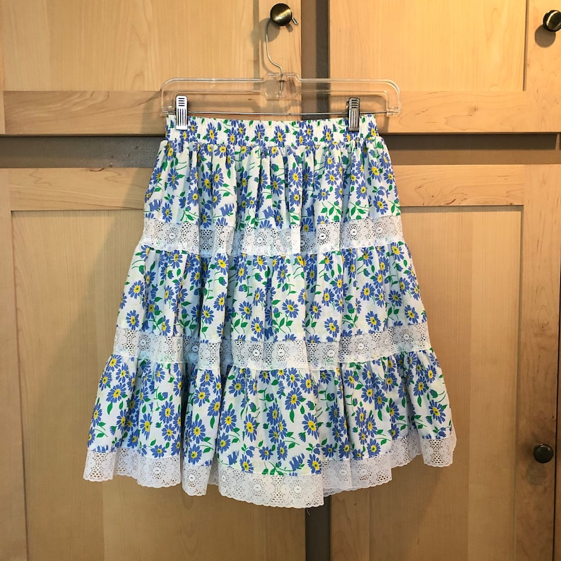 Prairie Skirt Daisy Print Harajuku Clothing XS SMALL image 0