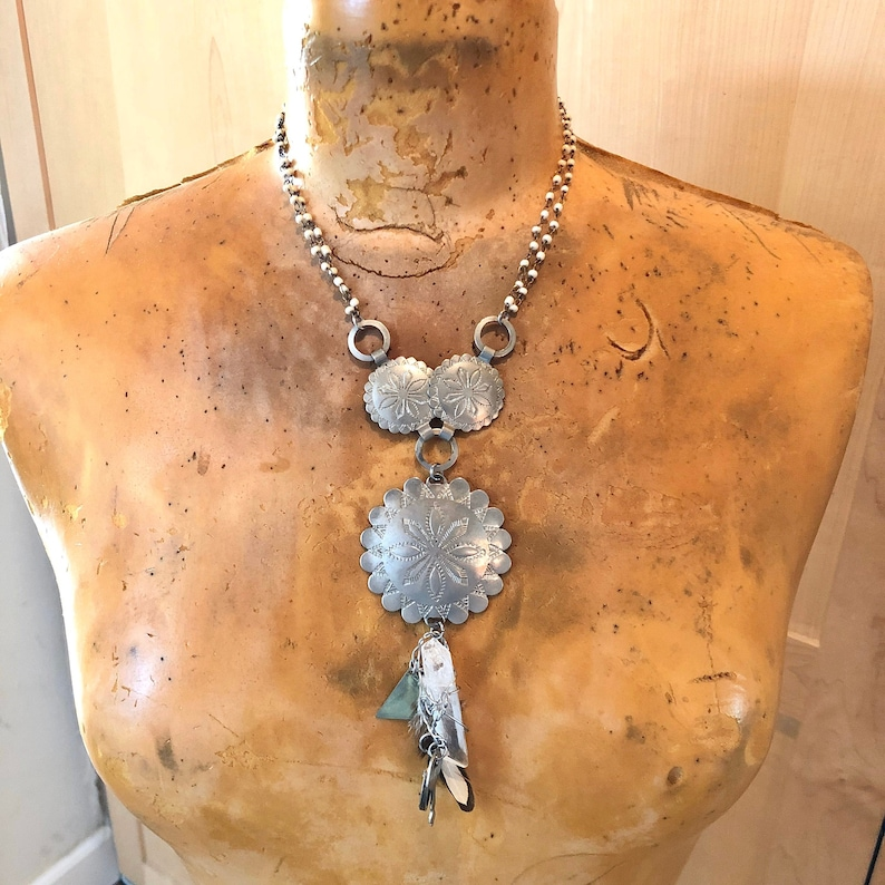Concho Necklace Crystal Jewelry Southwestern Gifts image 0